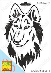Schablone-Stencil-A5-006-2044-Schaeferhund-Neu-Heike-Schaefer-Design