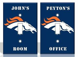 Details About Personalized Denver Broncos Light Switch Covers Nfl Football Home Decor
