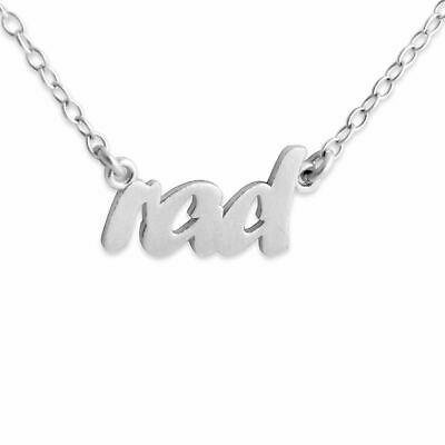 925 Sterling Silver Texas State Handwritten Script Necklace USA 14 Inches