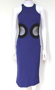 David-Koma-Blue-Circle-Stretch-Crepe-Midi-Dress-UK-10