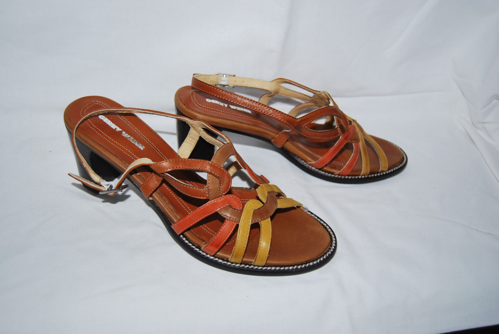 Gerry Weber Size 39 Leather New with Tags 69,- Sandals Sandal Brown Tones ms78