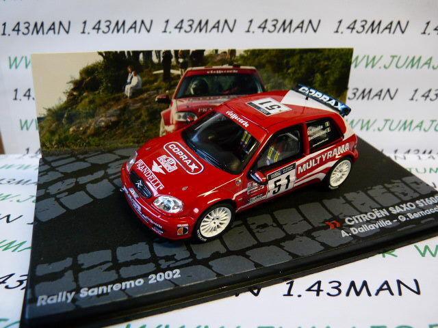 RIT54M 1/43 IXO Rallye ITALIE CITROËN Saxo S1600 Dallavilla San Rémo 2002