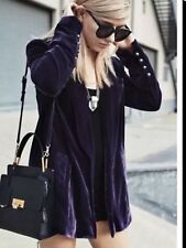 NWOT Free People Purple Velvet Yesterday's Muse Blazer SZ S