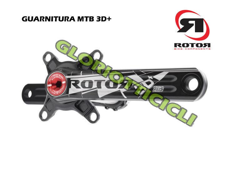 rojoor - Set Bielas MTB 3D + 104BCD XC3 175mm para Doble