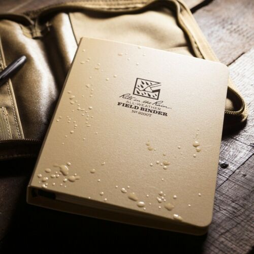 Rite In The Rain Champ 6 Reliure à anneaux//Outdoor Organisateur polydura Cover-Tan