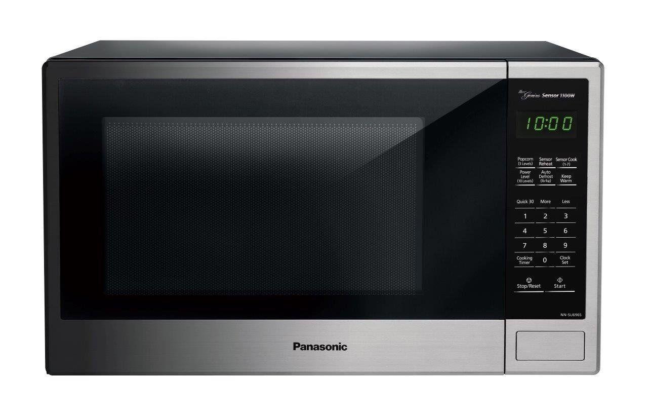 Panasonic NN-SU696S Countertop Microwave Oven with Genius Cooking Sensor and Pop