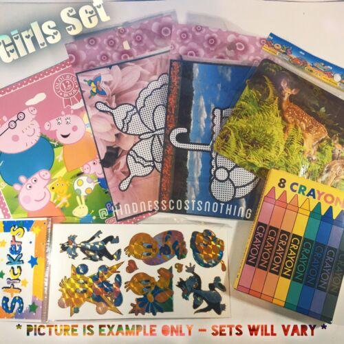 Bulk Kids Mix Activity Set 6 Pc Colouring Book Stickers Paint Puzzle Crayons G