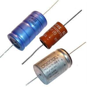 Elkos-Aluminium-Elektrolyt-Kondensatoren-Axial-verschiedene-Werte