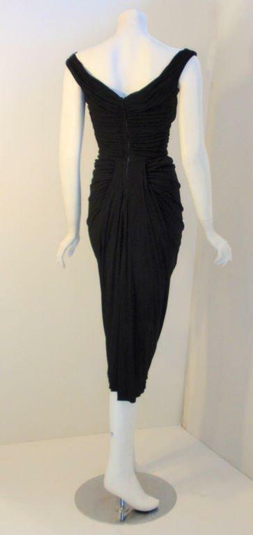 CEIL CHAPMAN 1940s Vintage Black Cocktail Dress - image 4