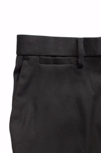 New Maximos Men/'s Black Formal Slim Fit Flat Front Slacks Trouser Dress Pants