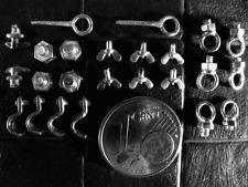 Zubehör Flügelmutter Ösen Haken RC Panzer LKW Truck Deko Zubehör WWII 1/16 1/14