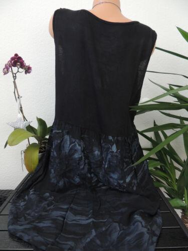 Damen Kleid Größe 46 48 50 52 54 Übergröße Kleider Maxikleid Blumen Spitze 84