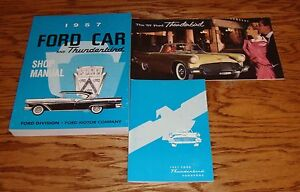 1957-Ford-Thunderbird-Shop-Service-Manual-Owners-Manual-Sales-Brochure-Lot-57