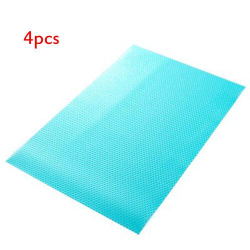 4X Antischimmelmatte Kühlschrankmatten EVA Antibakteriell Matte Wiederverwendbar