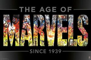 MARVEL COMICS 80TH ANNIVERSARY - AGE OF MARVELS POSTER - 22x34 - 17685