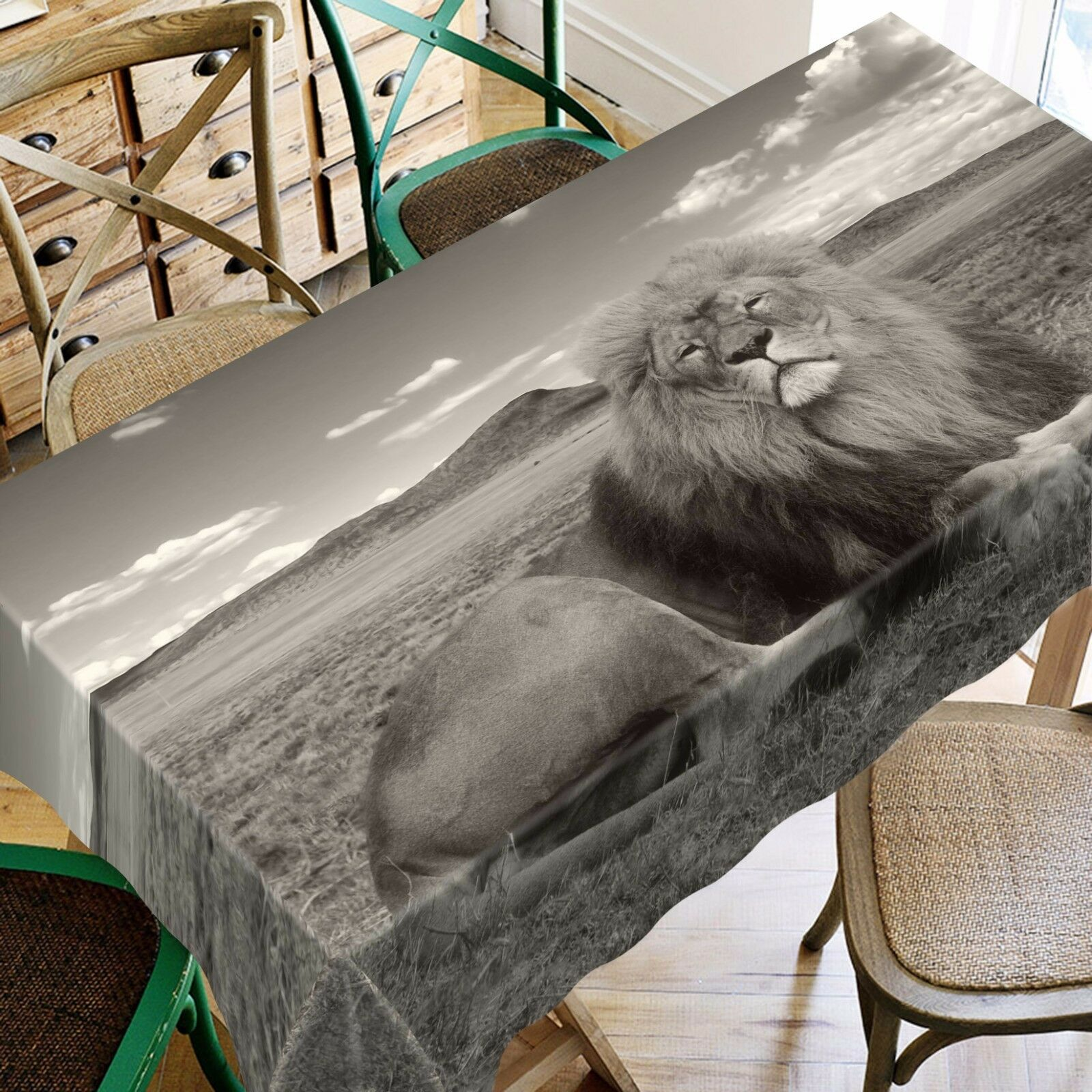 3D Lion 4625 Tablecloth Table Cover Cloth Birthday Party Event AJ WALLPAPER AU