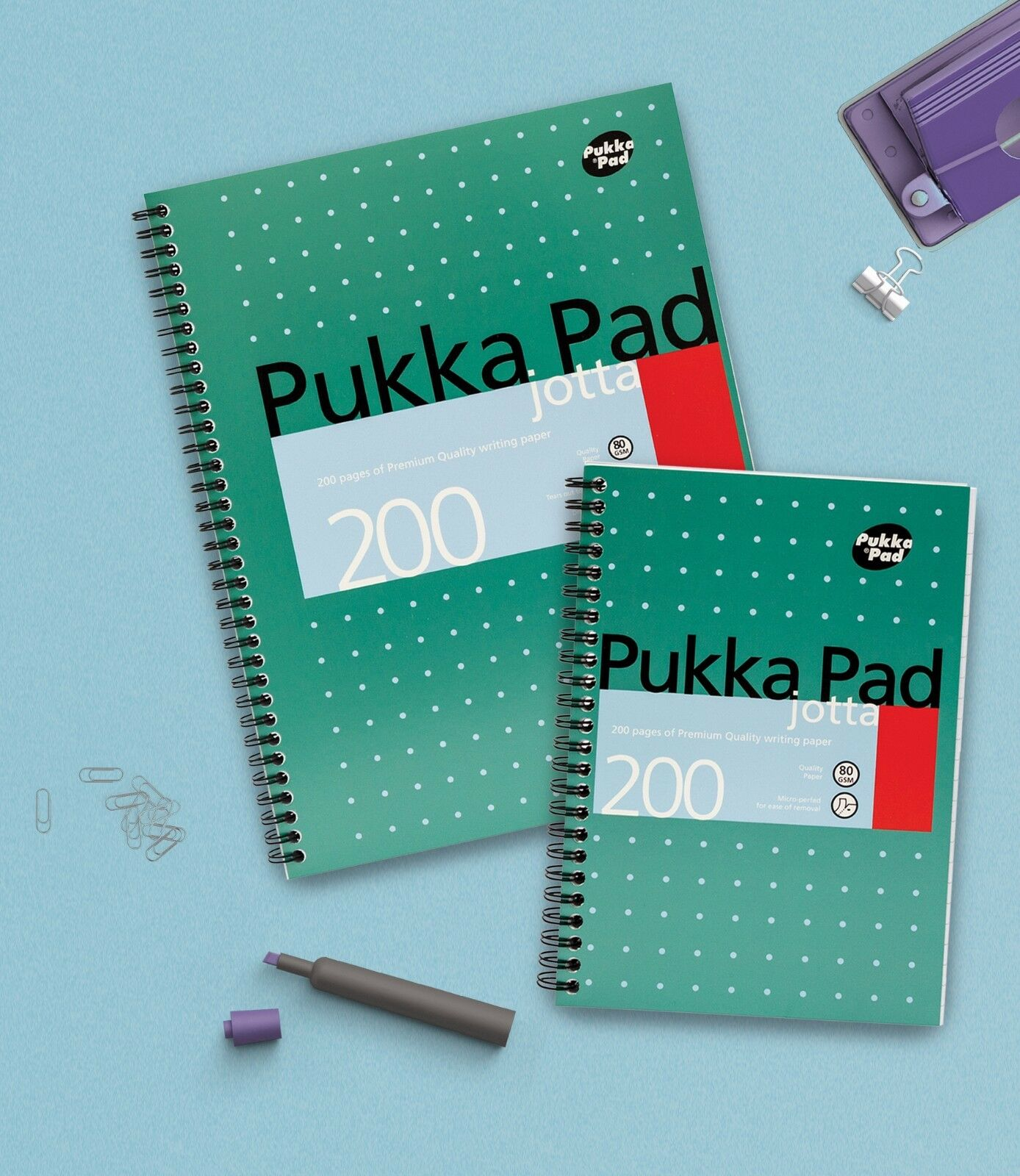 PUKKA PAD JOTTA QTY 6x 200 PAGE A5 BINDED PADS PREMIUM QUALITY WRITING PAPER NEW