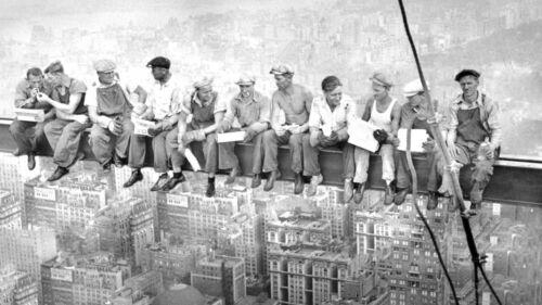 Affiche-Déjeuner Sur Un Gratte-ciel Classic New York Skyline Photo Rockefeller