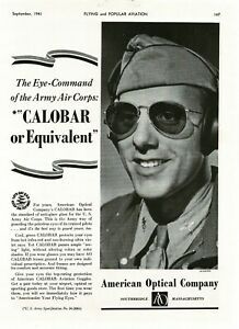 1941 American Optical Co. CALOBAR Anti-glare spectacles glass Vintage Print Ad