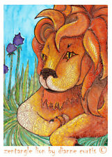 ACEO Orange Gothic Color Print from orig oil painting dcurtis Ritual Circle