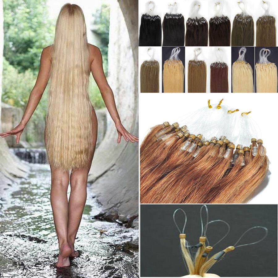 Kinky Straight Micro Loop Ring Bead Tipped Remy Human Hair