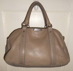 Image Is Loading Jackie Smith New York Designer Light Gray Leather