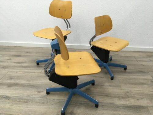 1/8 Stuhl Drehstuhl Architekt Vintage Kinder Loft Design Fabrik Werkstatt Schule