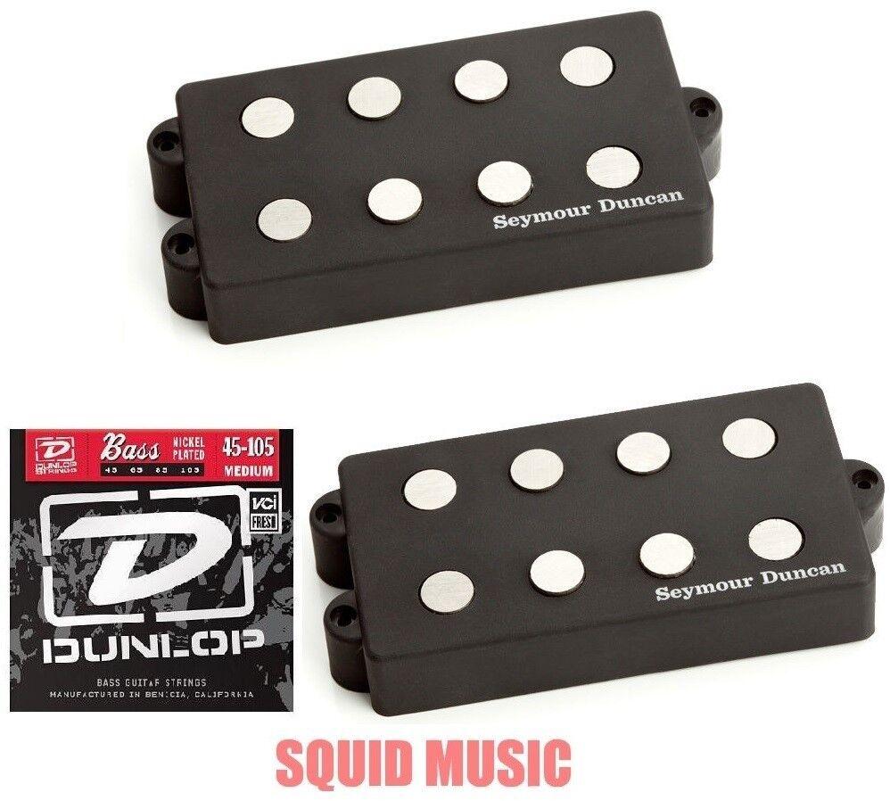 Seymour Duncan SMB-4D 4 String Music Man Ceramic Magnet Set ( FREE BASS STRINGS)
