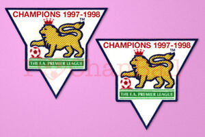 England-Premier-League-Champion-97-98-Sleeve-Gold-Patch-Badge-Arsenal-Jersey