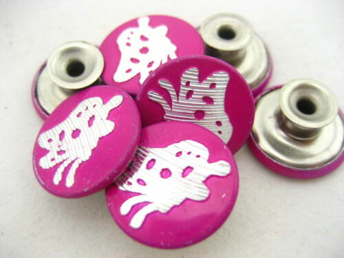 20PS rose red jean buttons Cool JEAN TACKS STUDS BUTTONS Jean button replacement
