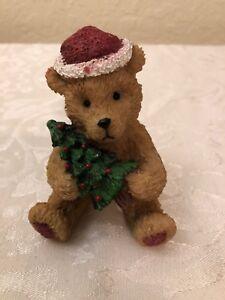 0edf928c57 Image is loading Christmas-Teddy-Bear-holding-Christmas-Tree-Porcelain