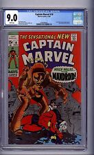 CGC CAPTAIN MARVEL #18 VF/NM 9.0 1969 ms marvel/gains powers, white pages
