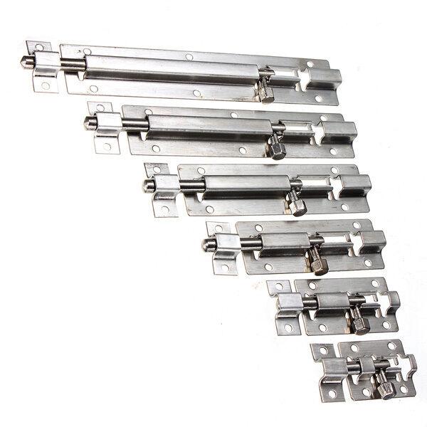 Stainless Steel Door Bolt Barrel Latch Gate Lock Hasp Stapler Safety & Screw