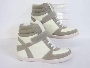 Spot-on-ladies-hi-top-wedge-boots-F5R0088-White-R22B
