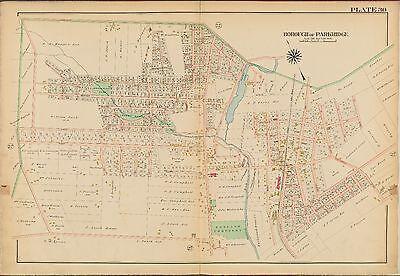 BERGEN COUNTY NEW JERSEY ATLAS MAP 1913 GW BROMLEY RIDGEFIELD PARK OVERPECK TWP