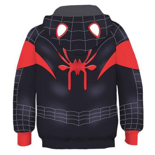 Kids Boys Spider-Man Into the Spider-Verse Miles Morales Hoodie Fleece Sweater