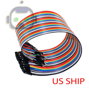 1X-40PCS-Dupont-Wire-Jumper-Cables-20cm-2-54MM-Male-to-Female-1P-1P-For-Arduino