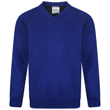 d5a415ddd7c0 Debenhams Kids Children s Royal Blue V-neck School Jumper From ...