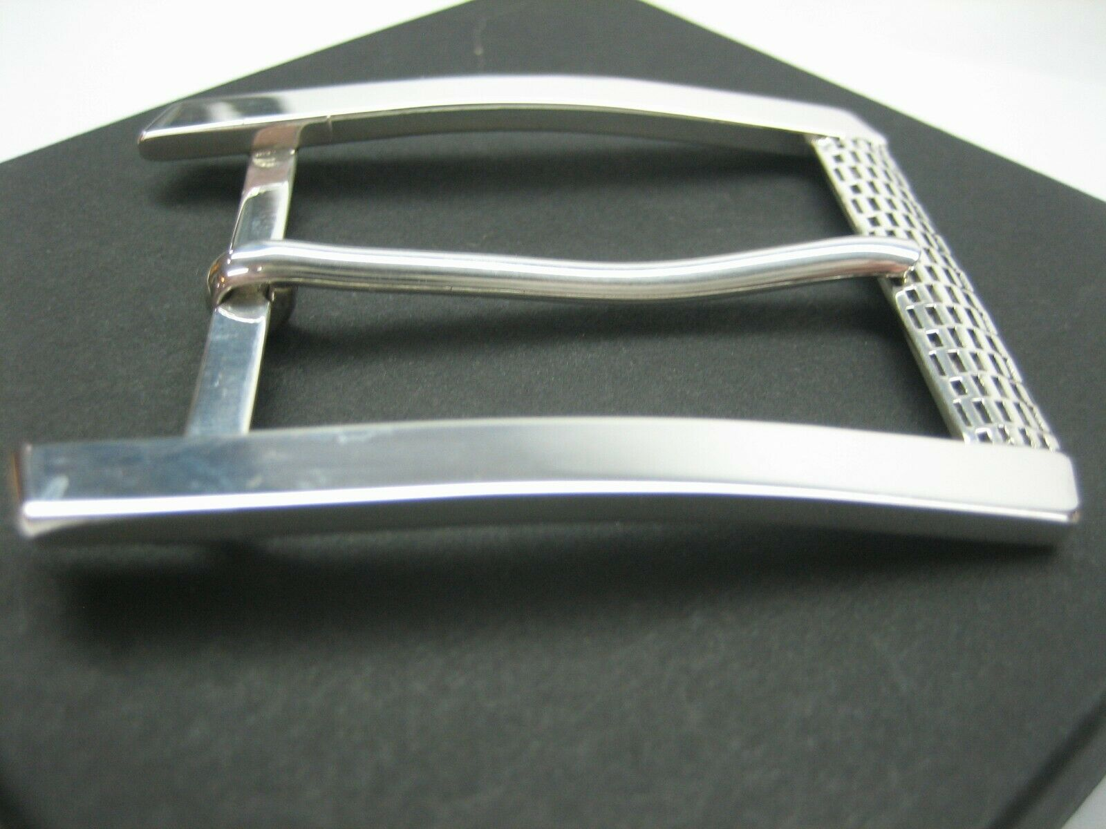 """STERLING SILVER 925 SOLID T-BON BUCKLE.WITH GENUINE LIZARD 1.5/"""" BELT MADE IN USA"""