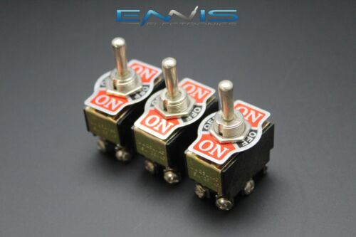 3 PCS TOGGLE SWITCH DPDT CENTER OFF TOGGLE 10 AMP 250V 15 AMP 125V 6 PIN EC-1515