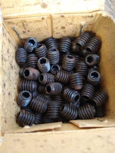 """Whitworth Steel Grub Screws.....Qty 10 BSW 5//16/"""" X ⅜"""