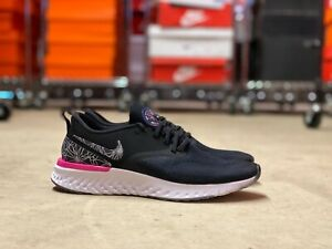 Nike-Odyssey-React-Flyknit-2-Mens-Running-Shoes-Epic-Black-AT9975-002-NEW-Mult