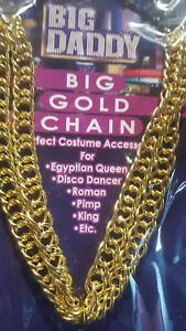 Forum-Novelties-Big-Daddy-48-Inch-Big-Gold-Chain-Costume-Accessory-NEW-LOT-64