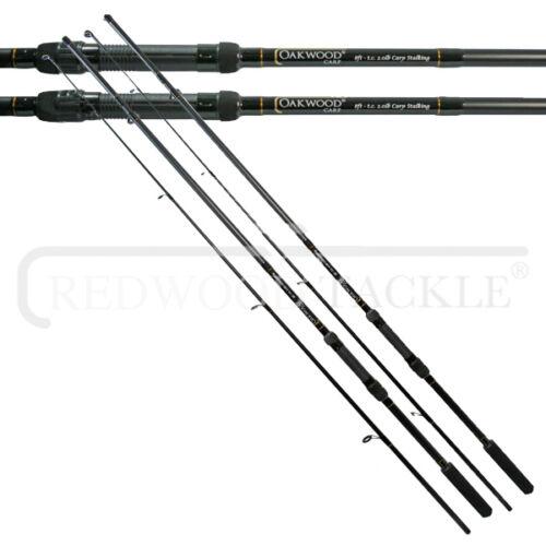 2 X CARP STALKER FISHING RODS 8FT 2PC CARP COARSE FISHING TACKLE