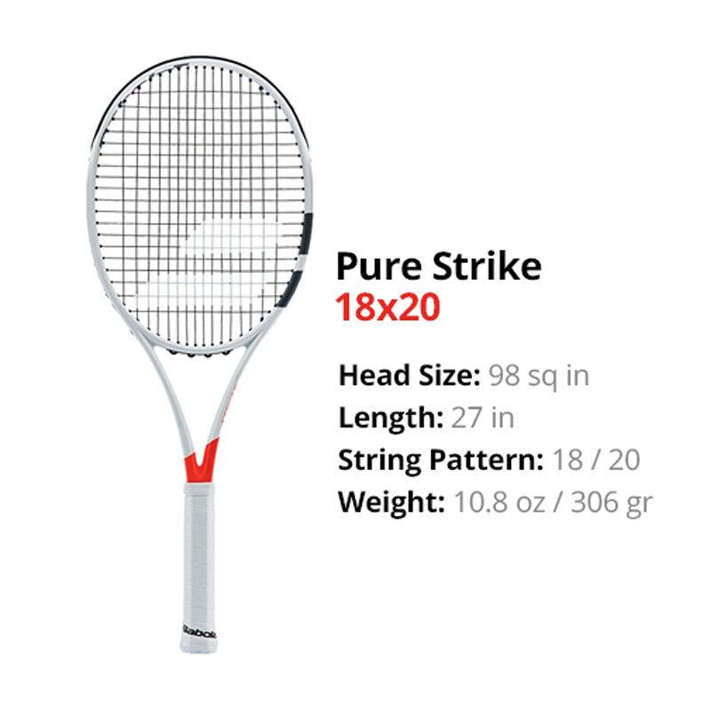 Babolat Pure Strike 18 20 Tenis Raqueta Con Cubierta Nuevo Envío gratuito