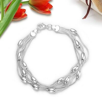 Wholesale Fashion jewelry S925 SILVER Womens Bracelet/bangle & Box for Gift