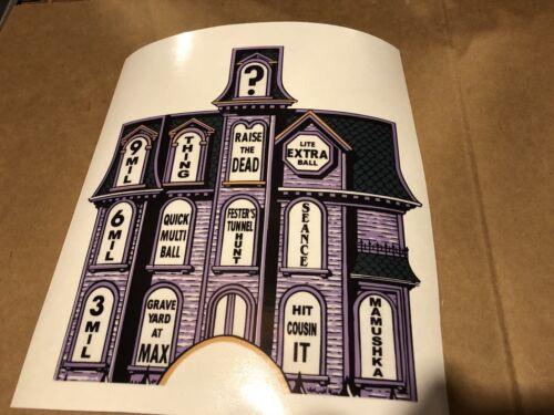 Addams Family Pinball Machibe Playfield Mansion Overlay