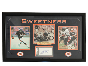 Walter payton signed cut triple 8x10 photo collage bears coa psa dna ebay - Walter payton madden 15 ...