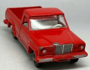 VINTAGE Matchbox Lesney N. 71 Jeep Rossa GLADIATORE PICK-UP-Quasi Nuovo