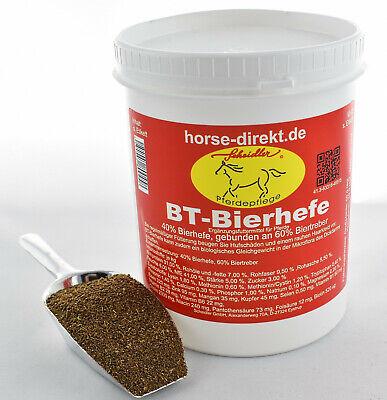 Geschickt Bt-bierhefe 1 Kg Dose, Pferd,huf, Haut, Haar, Darm, Für Hunde Und Pferde HüBsch Und Bunt
